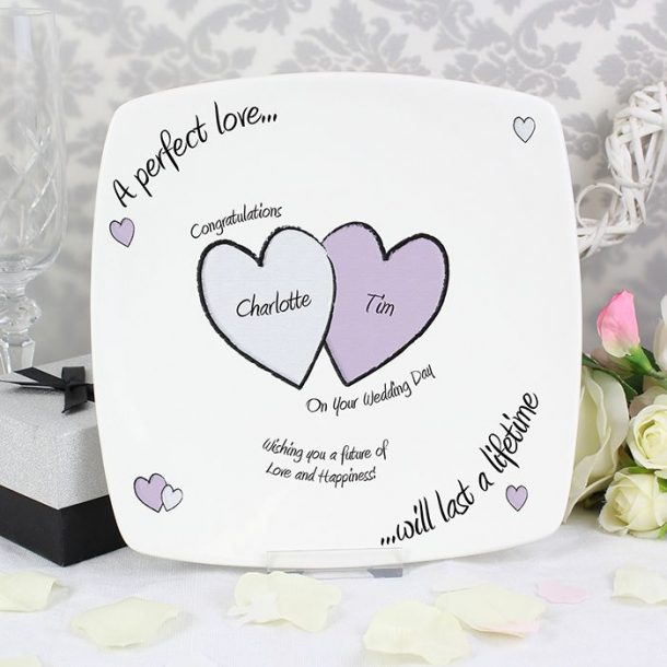 Personalised A Perfect Love Wedding Plate
