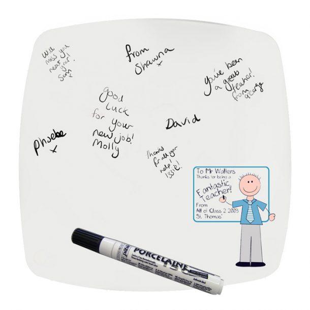 Personalised Blue Teachers Whiteboard Message Plate
