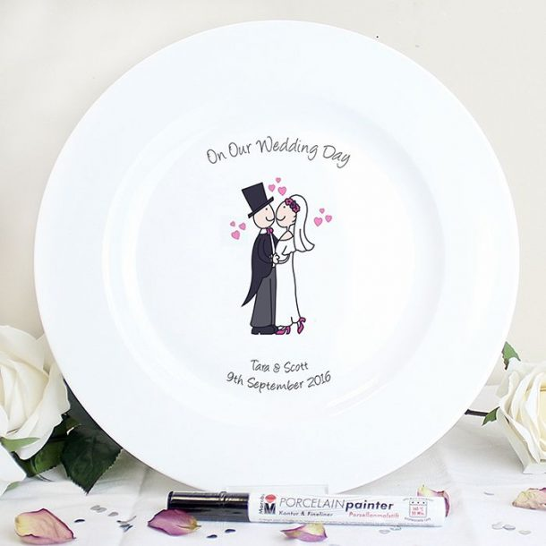 Personalised Cartoon Message Plate