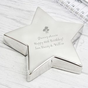 Personalised Flowers Paperweight