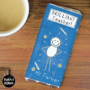Personalised Male Teacher Chocolate Bar