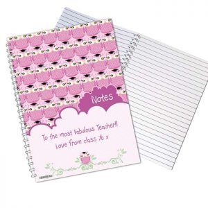Personalised Miss Owl A5 Notebook