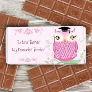 Personalised Miss Owl Chocolate Bar