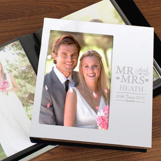 Personalised Mr & Mrs Photo Album