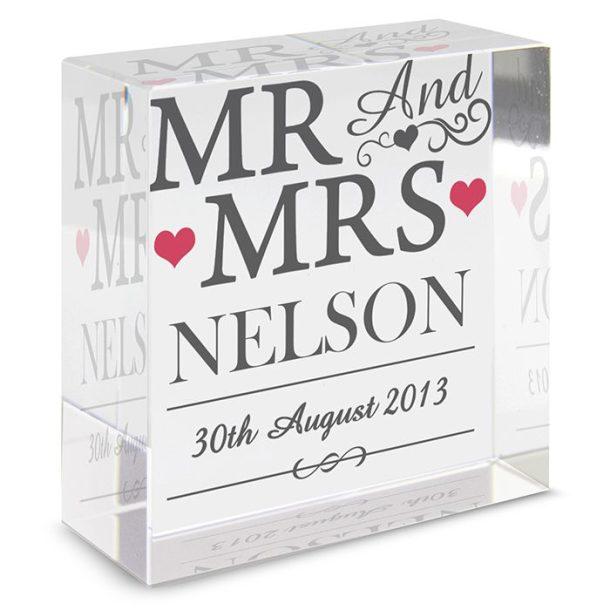 Personalised Mr & Mrs Token