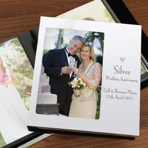 Personalised Silver Anniversary Photo Album