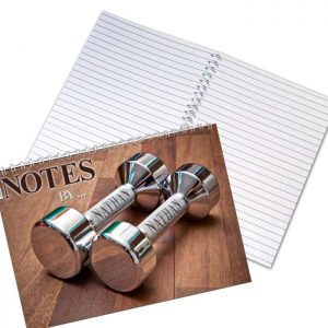 Personalised Silver Dumb Bells A5 Notebook