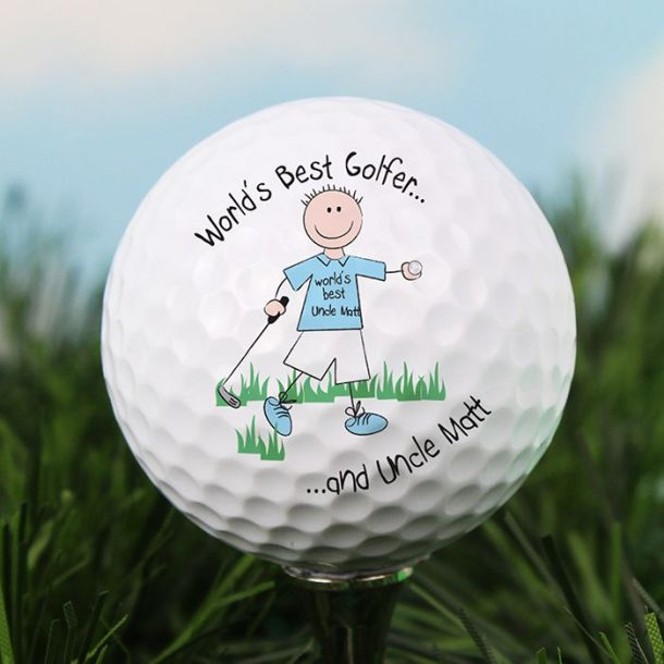 Personalised Worlds Best Golfer Ball