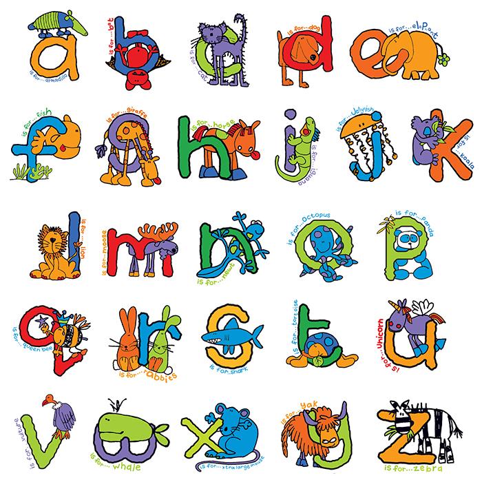 Personalised Bang On The Door Animal Alphabet Girls Name Frame ...