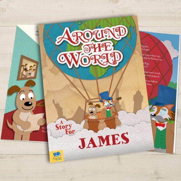 Personalised Around the World Softback Book