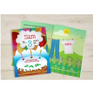 Personalised Birthday Counting Hardback Book