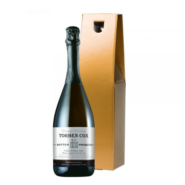 Personalised Birthday Prosecco & Gold Gift Box