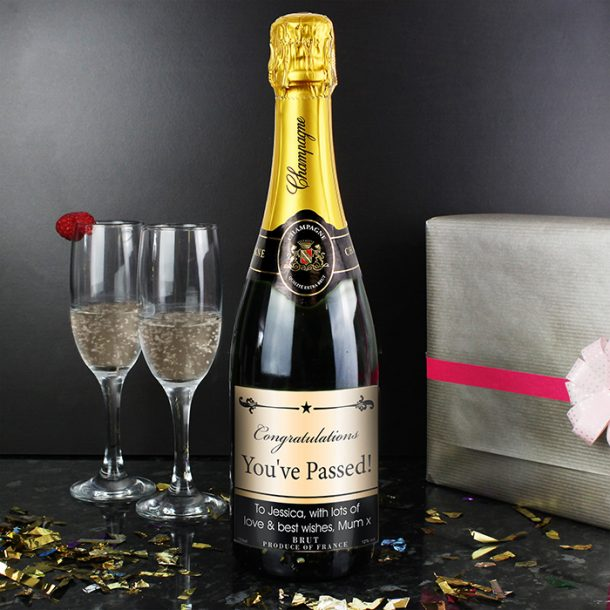 Personalised Black Border Champagne