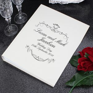 Personalised Black Swirl Photo Album