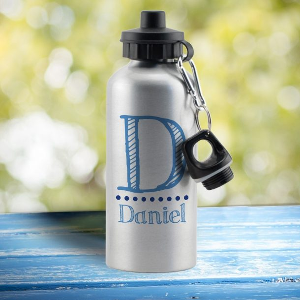 Personalised Blue Name Drinks Bottle
