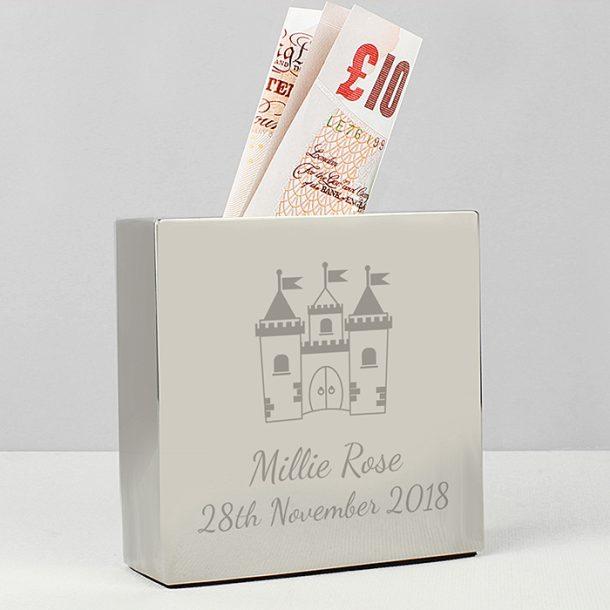 Personalised Castle Money Box