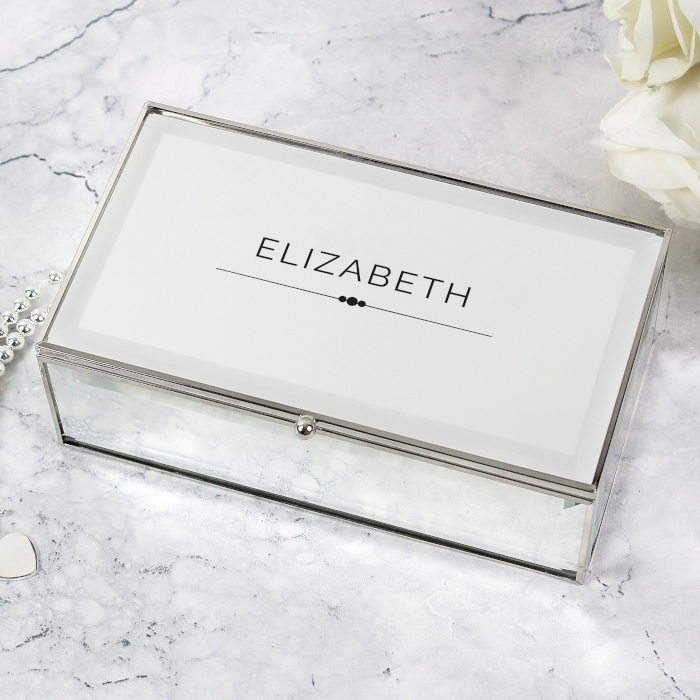 Personalised Classic Mirrored Jewellery Box Love My Gifts