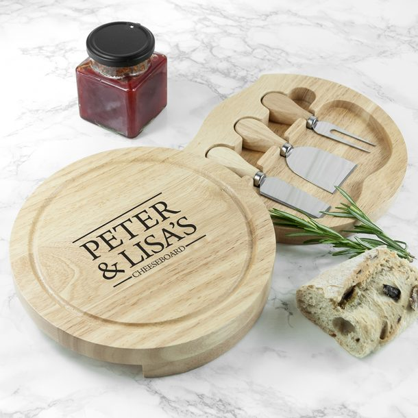 Personalised Couples Cheeseboard Set
