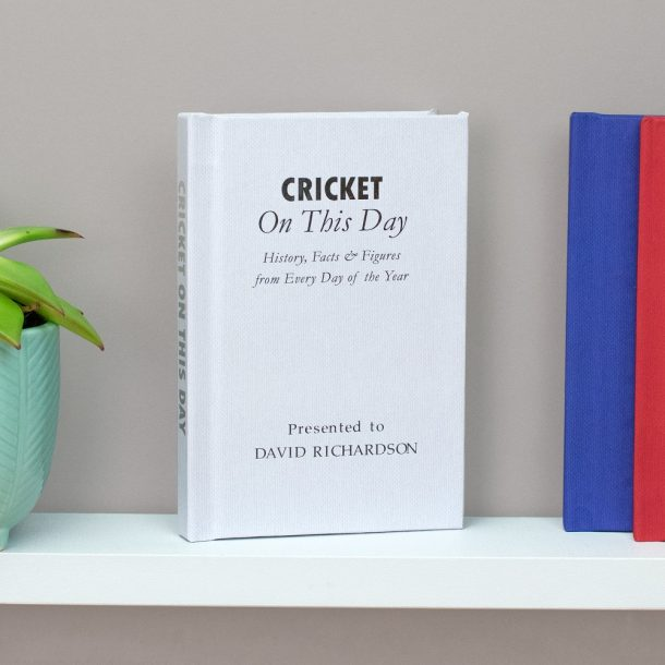 Personalised Cricket On This Day Book