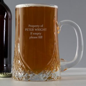 Personalised Crystal Pint Tankard