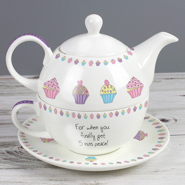 Personalised Cupcake Tea for One