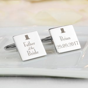 Personalised Father of Bride Cufflinks