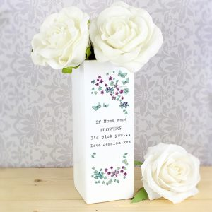 Personalised Forget Me Not Vase