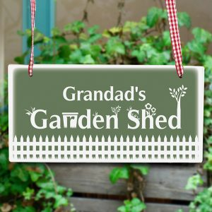 Personalised Garden Wooden Shed Sign