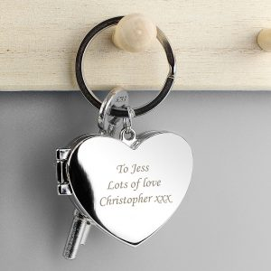 Personalised Heart Photo frame Keyring