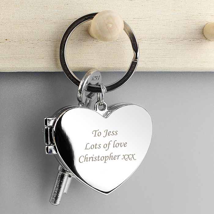 Personalised Heart Photo frame Keyring | Love My Gifts
