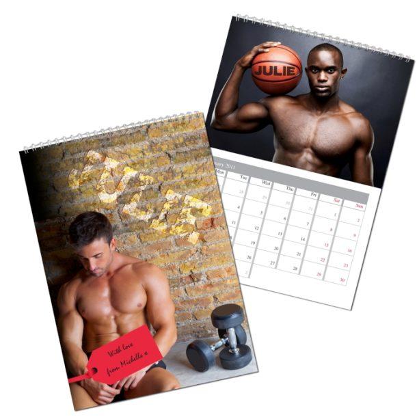Personalised Hot Hunks A4 Wall Calendar