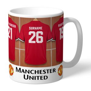 Personalised Man United Dressing Room Mug