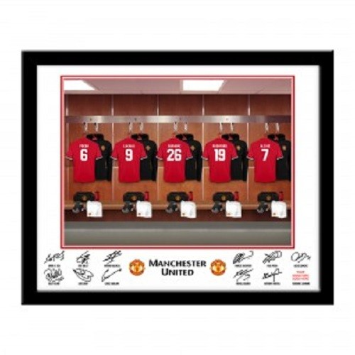 Personalised Man Utd FC Dressing Room Framed Print