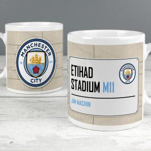Personalised Manchester City FC Street Sign Mug