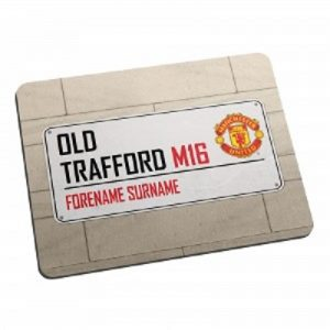 Personalised Manchester United FC Street Sign Mousemat