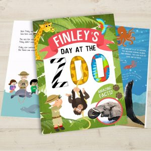 Personalised My Day at the Zoo Softback Book