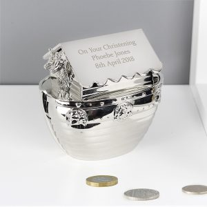 Personalised Noahs Ark Money Box