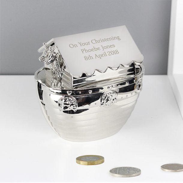 Personalised Noahs Ark Money Box