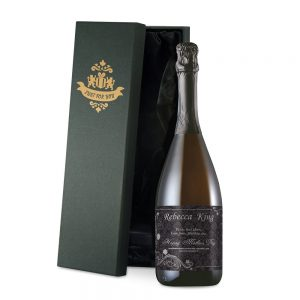 Personalised Ornate Mother's Day Prosecco & Silk Lined Box