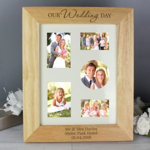 Personalised 'Our Wedding Day' Wooden Photo Frame
