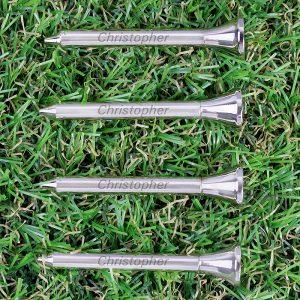 Personalised Pack of 4 Golf Tees