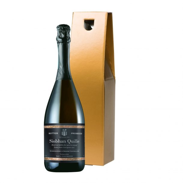 Personalised Prosecco & Gold Gift Box