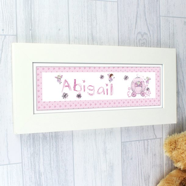 Personalised Pumpkin Fairy Name Frame