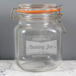 Personalised Retro Label Glass Kilner Jar