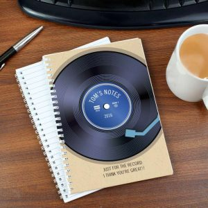 Personalised Retro Vinyl A5 Notebook