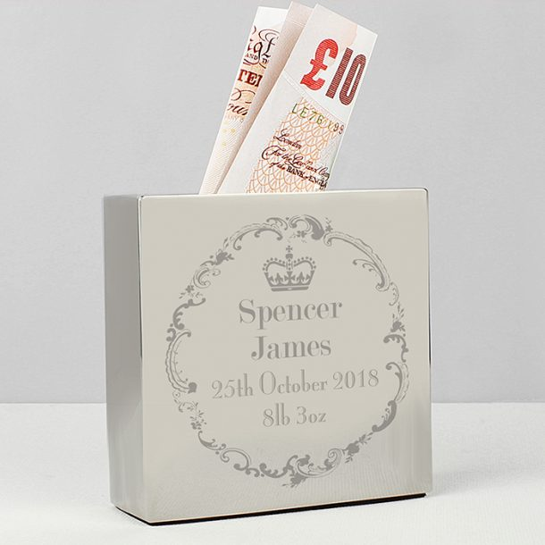 Personalised Royal Crown Money Box