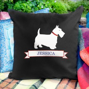 Personalised Scottie Dog Cushion Cover