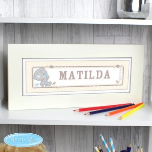 Personalised Tiny Tatty Teddy Name Frame