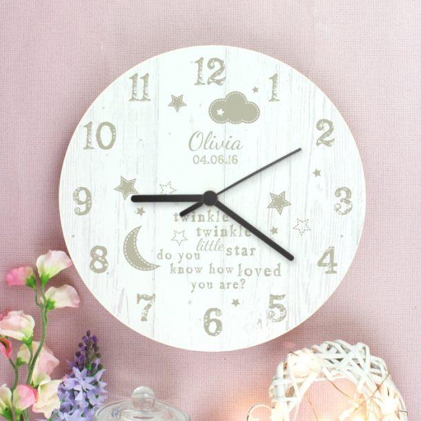 Personalised Twinkle Twinkle Clock