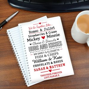 Personalised We Go Together Like A5 Notebook